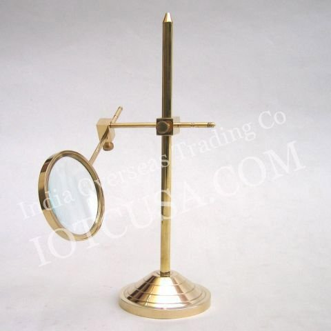 REAL SIMPLE...A HANDTOOLED HANDCRAFTED MR4816 BRASS MAGNIFYING GLASS STAND!!