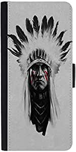 Snoogg Red Indian Minimaldesigner Protective Flip Case Cover For Sony Xperia ...