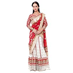 Suchi Fashion Cream Viscose Embroidered Circular Lehenga Choli