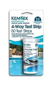 Kem-Tek 430-6 4-Way Test Strips Pool and Spa Accessories