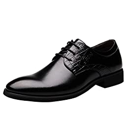 Men pointed toe Business Dress Formal casual Shoes Flat Oxfords Loafers Lace up