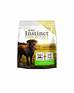 Instinct Raw Boost Grain-Free Lamb and Salmon Meal Formula Dry Dog Food by Nature's Variety 4.1 lb Bag