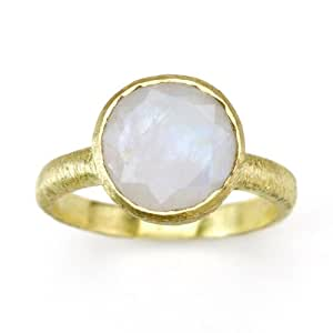 Amazon.com: Betty Carre' Created Moonstone Ring Goldplate ...