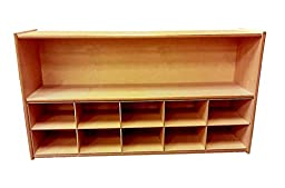ABC Company Cubby Inserts, Natural Wood Tone, 10 Cubby Inserts