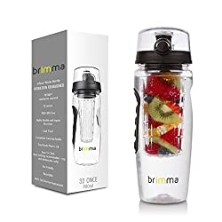 Brimma Leak Proof Fruit Infuser Water Bottle Large 32 Oz.