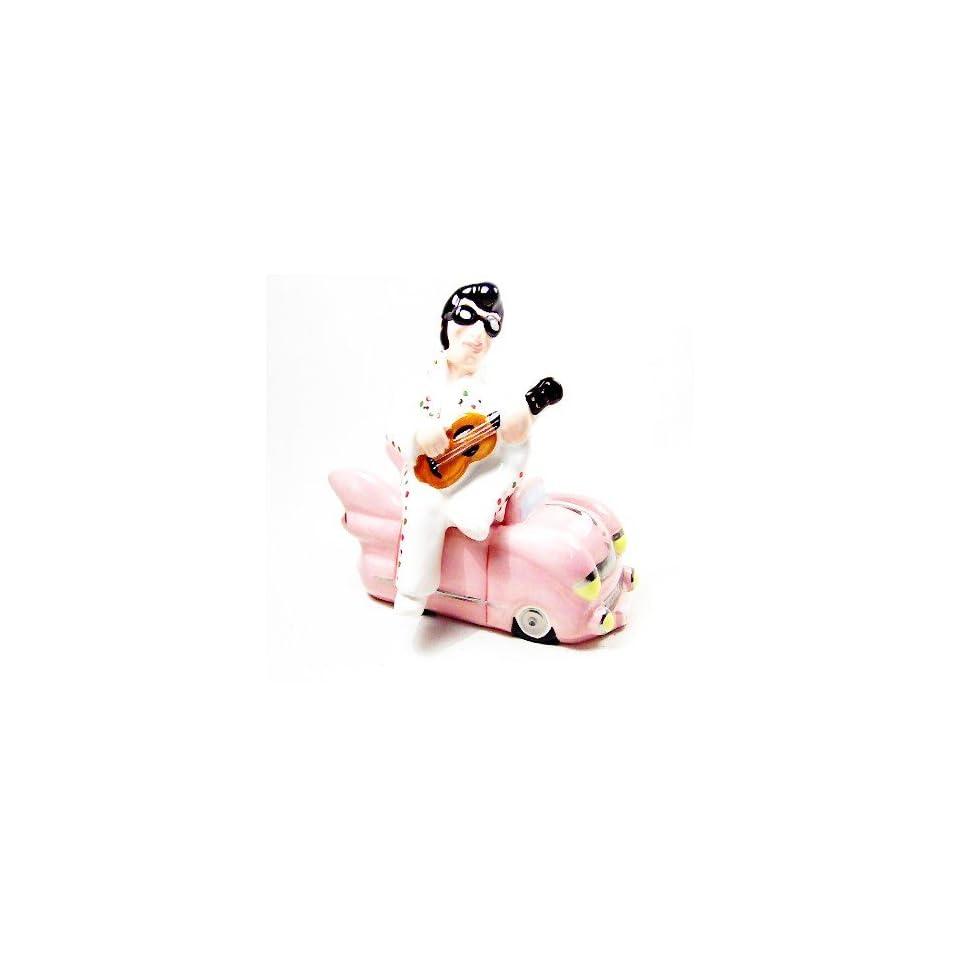 Elvis Rock Pink Cadillac Salt & Pepper Shaker S/P