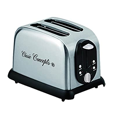 Classic Coffee Concepts TO103A 2 Slice Stainless Steel Toaster from Classic Coffee Concepts