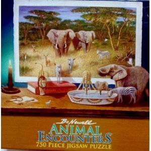 Bo Newell Animal Encounters 750 Piece Wild Animals Jigsaw Puzzle