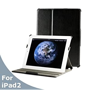 AYL 5-in-1 Slim Leather Case Folio with built-in Stand foriPad 2