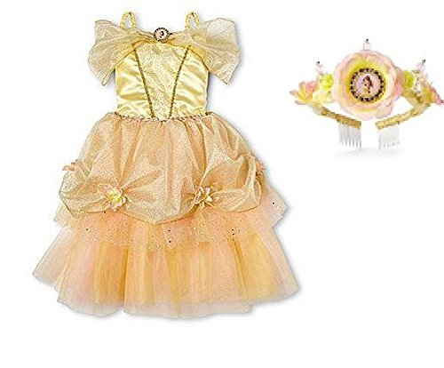 Disney Belle Costume Dress & Tiara Set