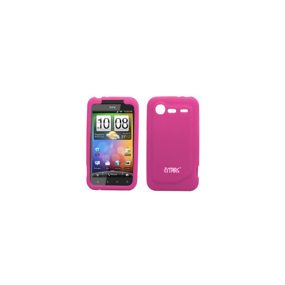 EMPIRE Hot Pink Silicone Skin Case Cover for Verizon HTC DROID Incredible 2