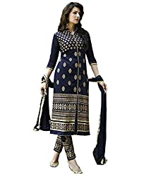 Poonam Fab-Unstitch Dress Material_Black_Butti_suit
