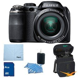 Fujifilm FinePix S4500 30x Optical Zoom 14 MP 3 inch LCD Digital Camera 4 GB Bundle