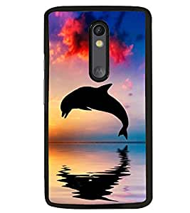 Printvisa Dolphin Diving At Sunset Back Case Cover for Motorola Moto G3::Motorola Moto G (3rd Gen)