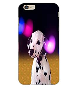 PrintDhaba Cute Dog D-2829 Back Case Cover for APPLE IPHONE 6S PLUS (Multi-Coloured)