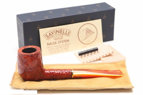 Savinelli Alligator Red 128R Tobacco Pipe