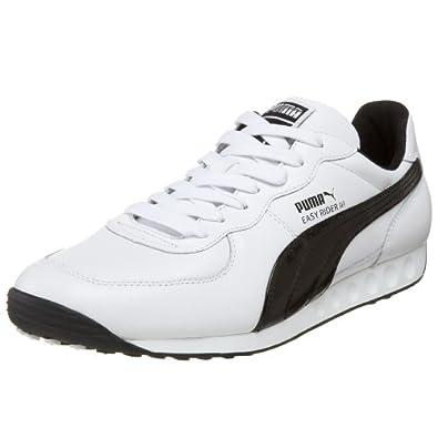 PUMA Men's Easy Rider III Sneaker,White/Black,9 D US