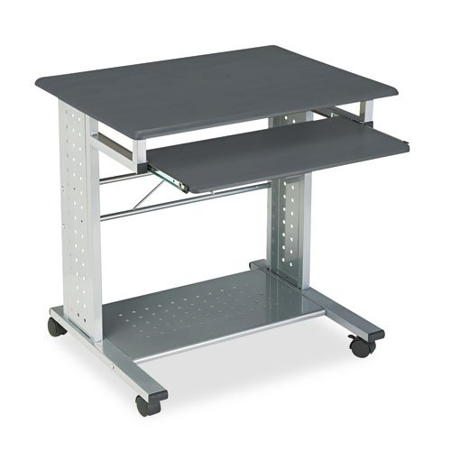 Mayline Products - Mayline - Empire Mobile PC Cart, 29-3/4 x 23-1/2 x 29-3/4, Metallic Gray - Sold As 1 Each - Compact design offers ample space for computer equipment and supplies. - Slide-out tray hides keyboard when not in use. - Perforated CPU shelf a