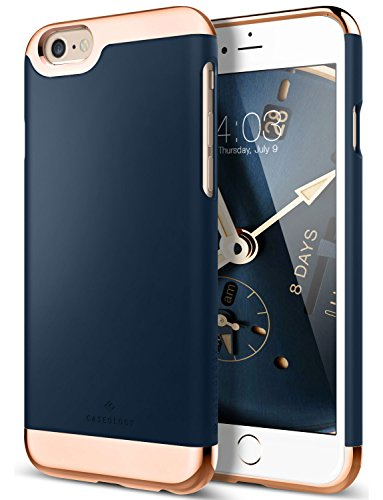 iPhone 6 Case, Caseology [Savoy Series] Slim Two-Piece Slider [Navy Blue] [Chrome Rose Gold] for Apple iPhone 6 (Nv Phone Case compare prices)