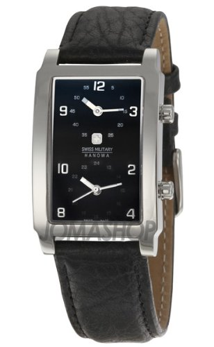 Swiss Military Hanowa Men's 06-4019-04-007 Globe Trotter Black Dial Leather Strap Watch