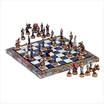 Hot Sale Civil War Soldier Theme Chess Board And Game Piece Set
