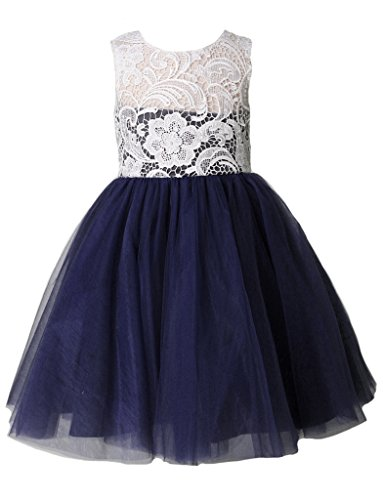 Thstylee lace tulle flower girl dress little girl toddler for Us size wedding dresses
