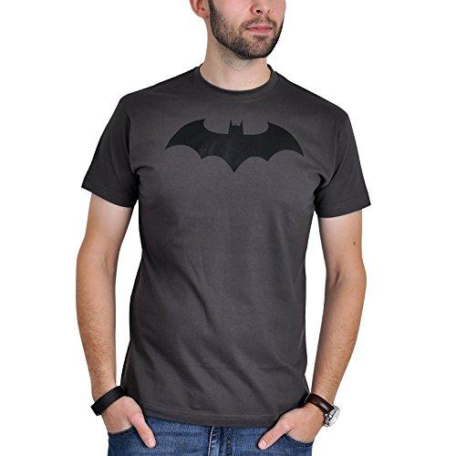 Batman - maglietta a maniche corte con logo - serie DC Comics - grigio - L