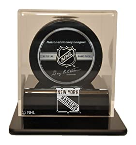 NHL New York Rangers Single Hockey Puck Display Case by Caseworks