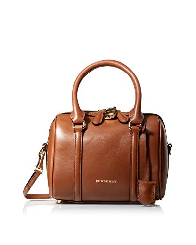 Burberry Women's Small Alchester Bowling Bag, Tan