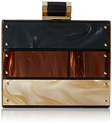 Halston Heritage Box Tortoise Plaque Evening Bag