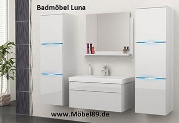 Luna Bathroom Set Bathroom Furniture Set with Basin Hochschränke and LED Light