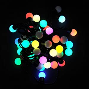 20 Feet 60LED RBG Multi-Color Fairy Light String Ball Pattern for Parties and Celebrations