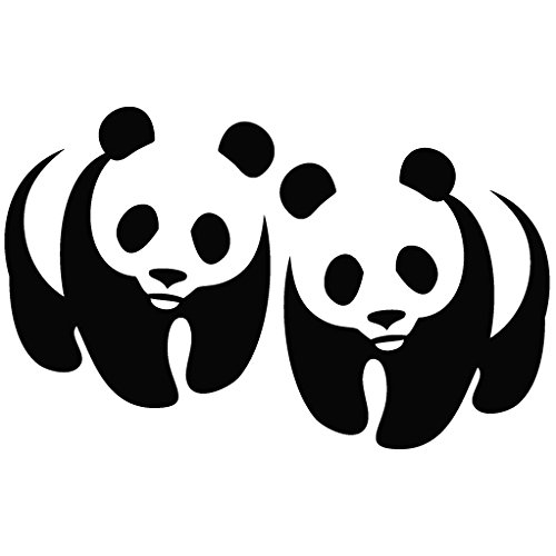 Panda Logo Mirror - Animal Decal Vinyl Removable Decorative Sticker for Wall, Car, Ipad, Macbook, Laptop, Bike, Helmet, Small Appliances, Music Instruments, Motorcycle, Suitcase (Panda Pan compare prices)