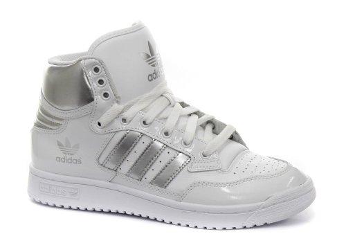 0ac126245c44 Adidas Originals Centennial Mid White Silver Mens Sneakers