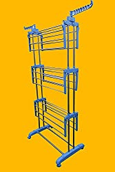 AMAZE Folding Portable Light weight Stainless Steel Cloth Drying Stand Rack