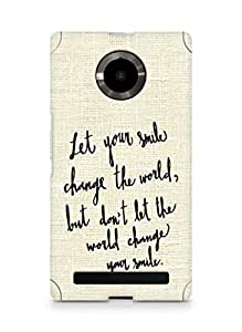 AMEZ let your smile change the world Back Cover For YU Yupheria