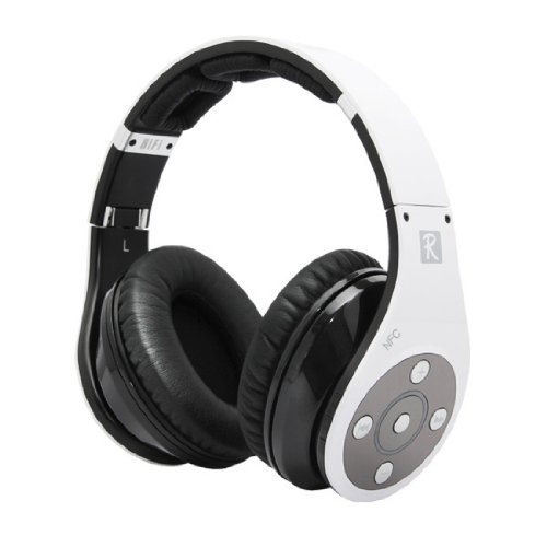 Bluedio R+ Bluetooth Stereohi-Fi Headphone The Upgrade Version Of R Supports Nfc Aptx® Audio Suppression Solution Bluetooth4.0 8Tracks Headset Support Line-In Mode Multi-Media Playing Micro-Sd Card (32Gb) Music Playing (White)
