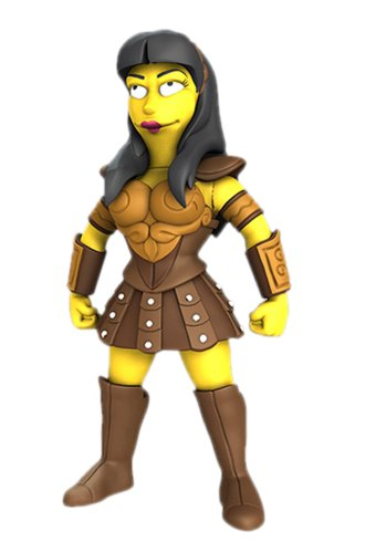 "NECA Simpsons 25th Anniversary - Lucy Lawless 5"" Action Figure Series 2"