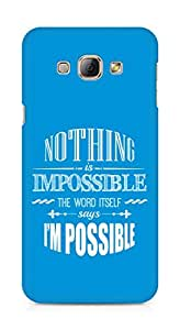 AMEZ Nothing is Impossible Back Cover For Samsung Galaxy A8