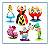 6pcs Disney Alice in Wonderland Display Figures Kid Toy Cake Toppers Decor
