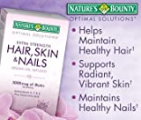 Nature's Bounty Hair Skin and Nails 5000 mcg of Biotin – (Extra Strength, One Bottle of 250 Softgels)
