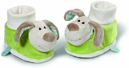Neat-Oh My First Nici Baby Booties Dog with Rattle Plush