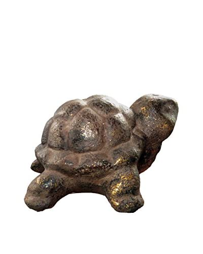 Asian Loft Carved Stone Turtle, Neutral Tones