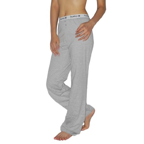 Womens Hurley Athletic Stretch Pajamas Pants - Grey -Size: XL