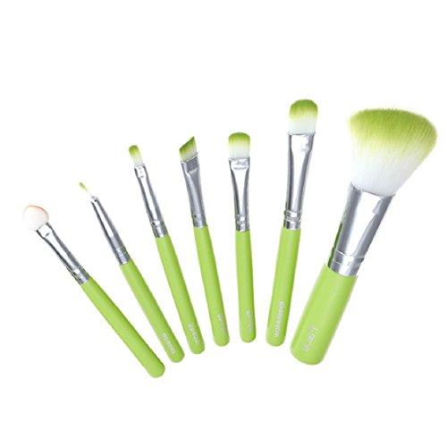 Vovotrade®7pcs pinceau de maquillage(Vert)