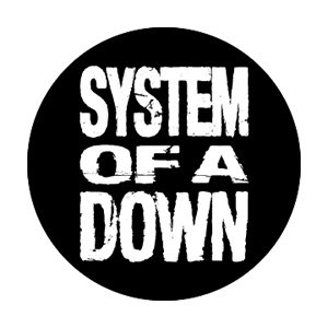 System of A Down Stacked Logo Button B-3268