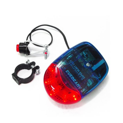 BOXINGCAT Outdoor Sport Bicycle Bell, Electronic Bike Alarm Horn, 8 Model Sound & 5 LED Lights