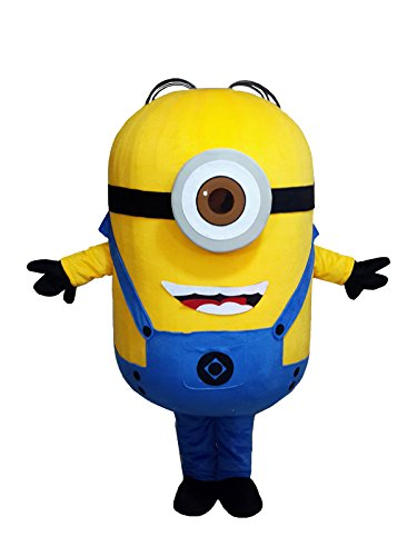 Winnie Minions Despicable Me Mascot Costume Fancy Dress Outfit Adult