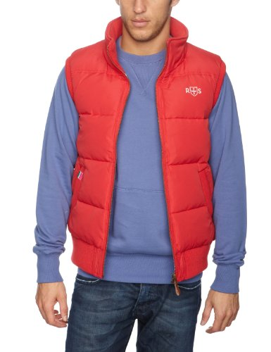 Rampant Sporting Guys Jersey Lined Men's Gilet Summer Red Medium