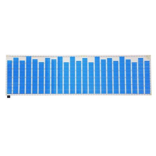 Sunsbell Cool Fashionable Led Blue Lamp Light Car Music Rhythm Sticker Sound Activated Flash Light El Sheet Car Music Equalizer 45*11Cm